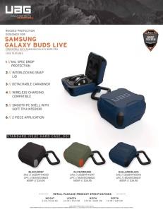 Ốp chống sốc UAG HARD CASE Galaxy Buds Live (chính hãng)
